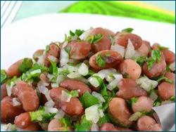Салат из свежей фасоли